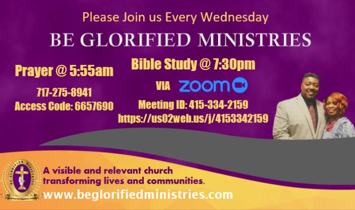 Wednesday Morning Prayer/Bible Study